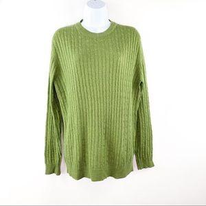Express Mens Medium Cashmere Silk Sweater Green M
